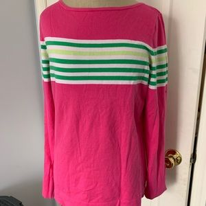 Lilly Pulitzer pink stripe sweater